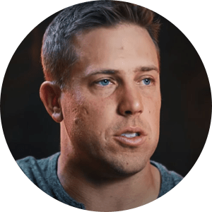 Headshot of Case Keenum talking